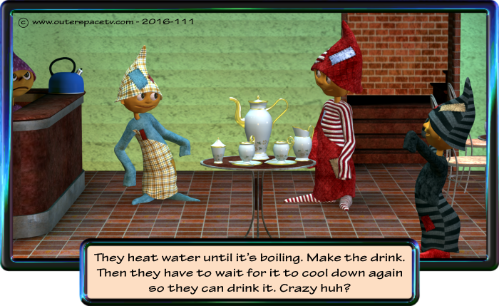 Cartoon - boiling water